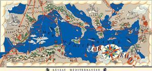 Mediterranean Network (Réseau Méditerranéen) - Route Map - France by Lucien Boucher