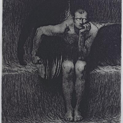 Lucifer-Franz von Stuck-Giclee Print