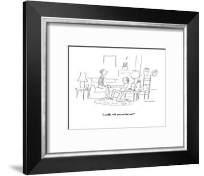 """Lucille, will you anchor me?"" - Cartoon-Liza Donnelly-Framed Premium Giclee Print"