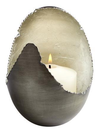 Lucina Antique Zinc Candleholder - Small