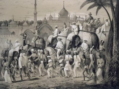 Lucknow, the Principal Street, from 'Voyages in India', 1859 (Litho)-A. Soltykoff-Giclee Print