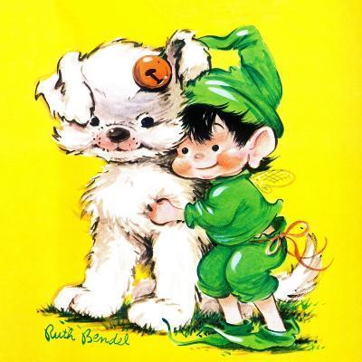 Lucky Bunny - Jack & Jill-George Lesnak-Giclee Print