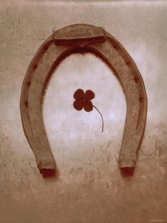Lucky Horse Shoe on Dusty Rose Metallic I