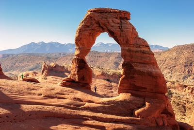 Freestanding Natural Arch Located in Arches National Park.