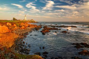 Lighthouse at Sunset, Pigeon Point, California Coast by lucky-photographer