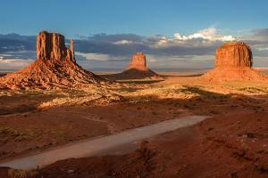 Three Rocks in the Monument Valley. by lucky-photographer