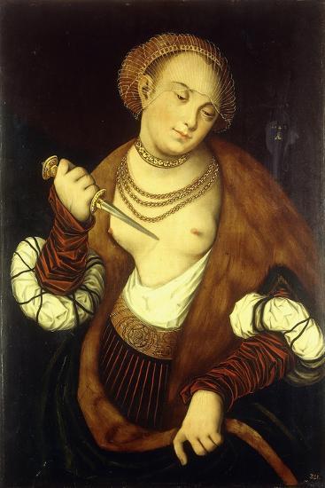 Lucretia, 1548-Lucas Cranach the Elder-Giclee Print