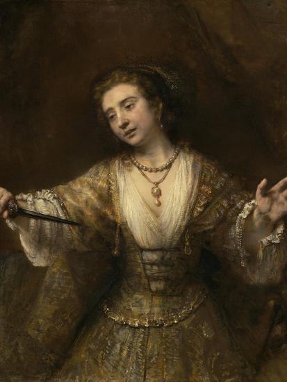 Lucretia, 1664-Rembrandt van Rijn-Giclee Print