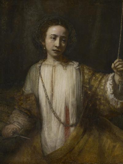 Lucretia, 1666-Rembrandt van Rijn-Giclee Print