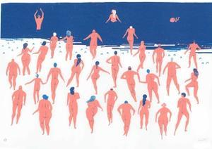 Nude Beach Run, 2016 by Lucy Banaji