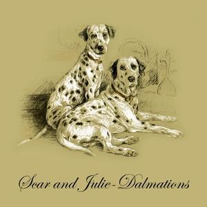 Scar And Julie-Dalmations by Lucy Dawson