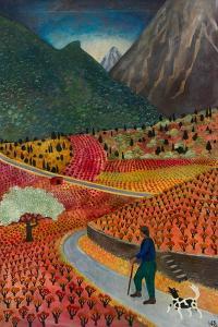 Evening at La Voulte, 1999 by Lucy Raverat