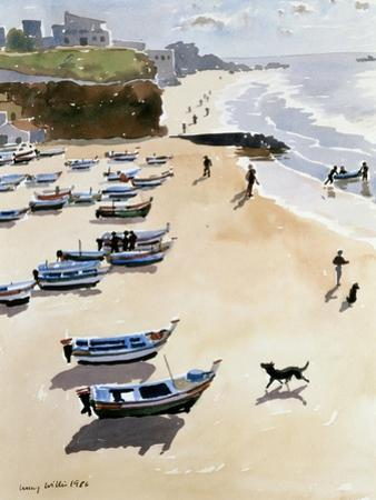 Boats on the Beach, 1986 by Lucy Willis