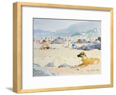 Dog on the Beach, Woolacombe, 1987