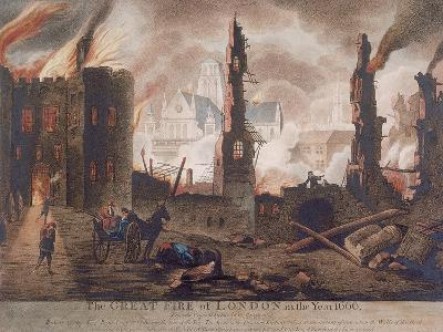 Ludgate, Great Fire of London, London, 1792-William Birch-Giclee Print