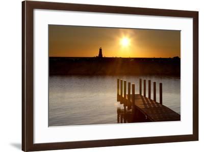 Ludington Sunset, Ludington, Michigan '12-Monte Nagler-Framed Photographic Print