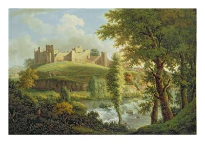 Ludlow Castle with Dinham Weir, from the South-West, c.1765-69-Samuel Scott-Giclee Print