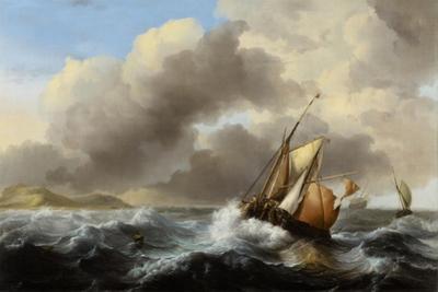 Fishing Vessels Offshore in a Heavy Sea, 1864