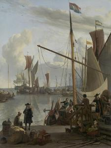 The Ij at Amsterdam, Seen from the Mosselsteiger (Mussel Pier) 1673 by Ludolf Backhuysen