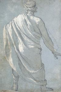 A Man Seen from Behind Wearing a Cloak by Ludovico Cardi Cigoli
