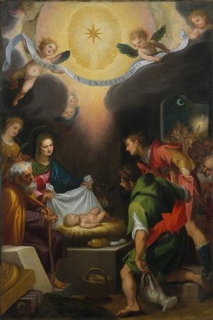 The Adoration of the Shepherds with Saint Catherine of Alexandria, 1599