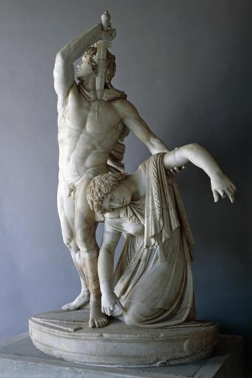 Ludovisi Gaul Killing Himself, Roman Copy from 230 BC Roman Civilization, 3rd Century BC--Giclee Print