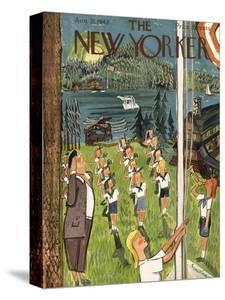 The New Yorker Cover - August 21, 1943 by Ludwig Bemelmans