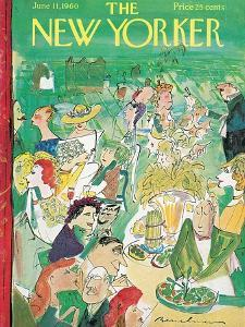 The New Yorker Cover - June 11, 1960 by Ludwig Bemelmans
