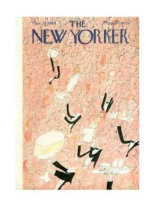 The New Yorker Cover - March 25, 1944 by Ludwig Bemelmans