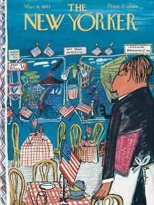 The New Yorker Cover - March 6, 1943 by Ludwig Bemelmans