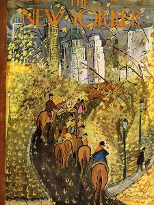 The New Yorker Cover - October 9, 1954 by Ludwig Bemelmans