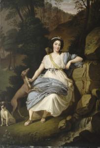 Portrait de la comtesse de Provence en Diane by Ludwig Guttenbrunn