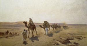 An Arab Caravan by Ludwig Hans Fischer