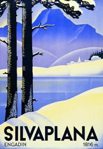 Advertising Poster Silvaplana by Ludwig Hohlwein