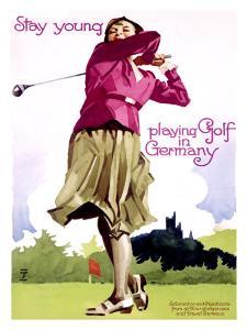 Golf in Germany by Ludwig Hohlwein