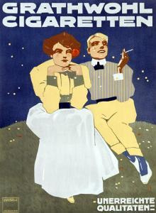 Grathwohl Cigaretten by Ludwig Hohlwein