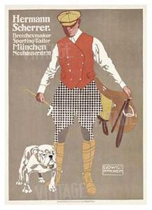 Hermann Scherrer Breechesmaker by Ludwig Hohlwein