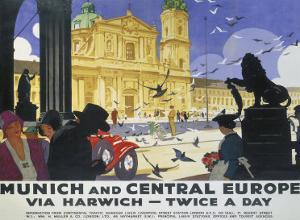 LNER, Munich and Central Europe, 1929 by Ludwig Hohlwein