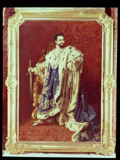 Ludwig II (1845-86) 1887-Gabriel Schachinger-Giclee Print