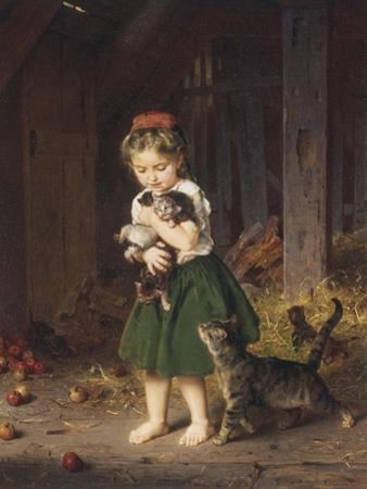 Kittens, c.1865 by Ludwig Knaus