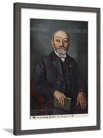 Ludwig Lazarus Zamenhof--Framed Giclee Print