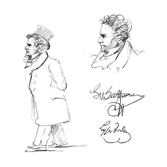Ludwig Van Beethoven (1770-182), German Composer--Giclee Print