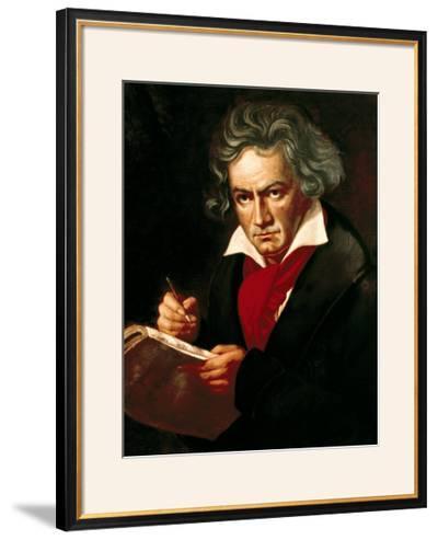 "Ludwig Van Beethoven (1770-1827) Composing His ""Missa Solemnis""-Joseph Karl Stieler-Framed Giclee Print"