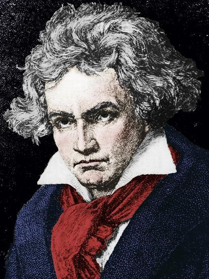 Ludwig van Beethoven (1770-1827), German composer and pianist, 19th century-Unknown-Giclee Print