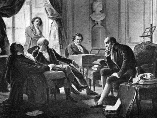 Ludwig van Beethoven and his friends, (1770-1827), German composer, 1909. Artist: Unknown-Unknown-Giclee Print