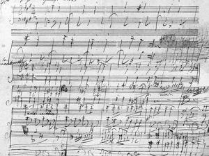 Autograph Score Sheet For the 10th Bagatelle Opus 119 by Ludwig Van Beethoven