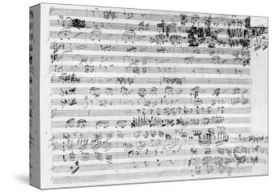 Autograph Score Sheet For the Trio Mi Bemol Opus 3