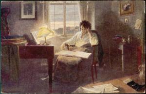 Ludwig Van Beethoven Composing