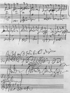 Handwritten Musical Score (Ink on Paper) by Ludwig Van Beethoven
