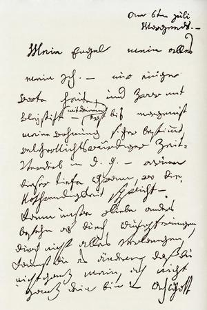 Letter from Beethoven to 'The Immortal Beloved'